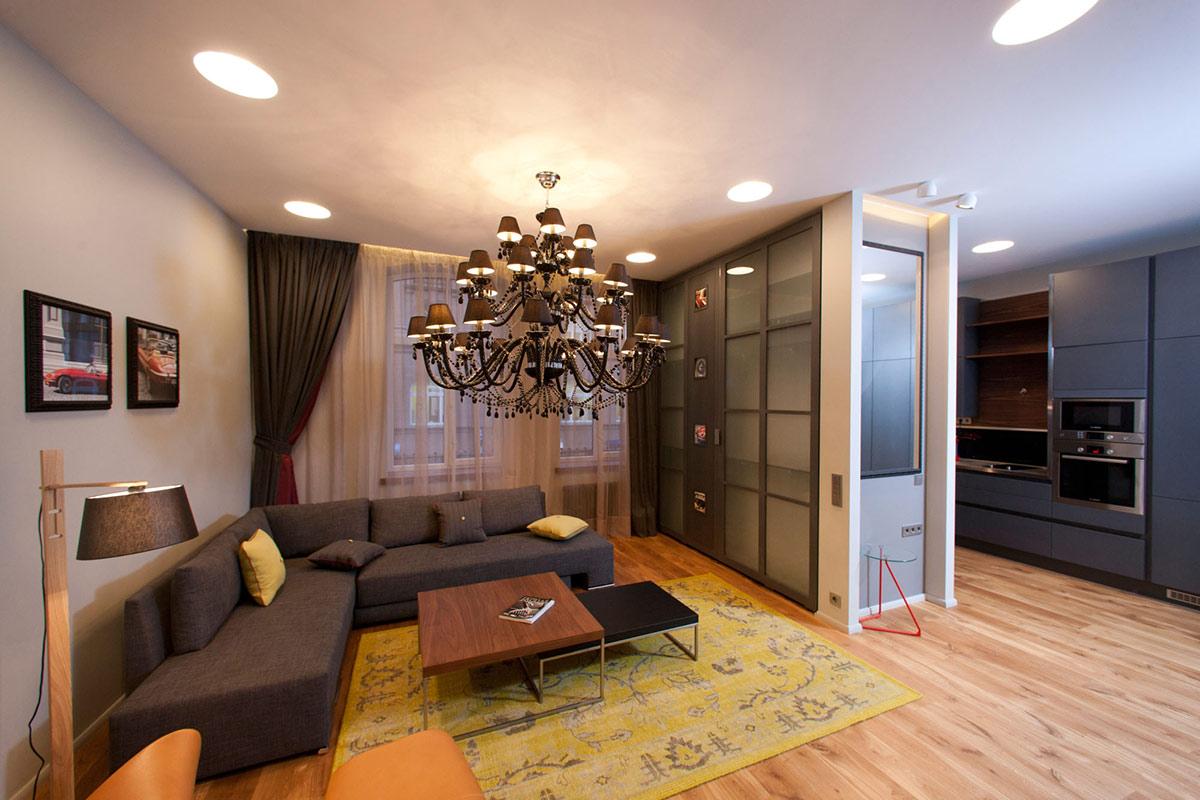 Дизайн ремонт однокомнатной квартиры 40 кв м